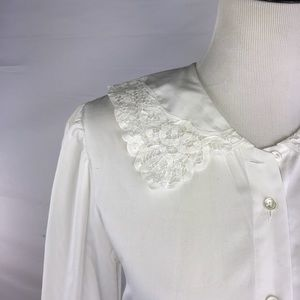 Vintage 90s Laura Ashley white button down shirt 4